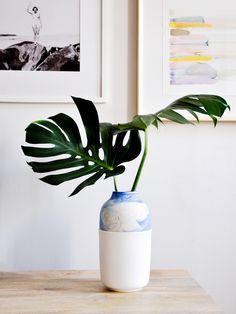 The Gradient Vase in Blue & Peach