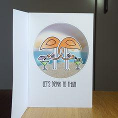 Shadow box card using MFT's Let's flamingle