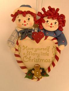 Custom Raggedy Ann And Andy Ornament by BarbarasClayMagic on Etsy