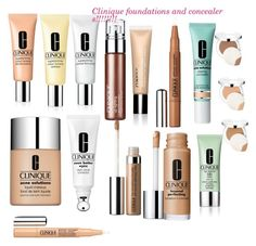 """""""Clinique foundation and concealer"""" by minadinamike on Polyvore featuring beauty and Clinique"""
