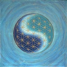 Flower of Life Image: Neptune Sacred Architecture, Geometry Architecture, Abstract Tattoo Designs, Spiritual Paintings, Sacred Geometry Art, Visionary Art, Flower Of Life, Flower Images, Yin Yang