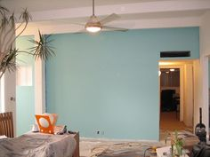 New wall color teal turquoise by Fifilynn, via Flickr looking for a bluish grey wall color