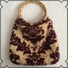 Vintage purse Great design, soft, bamboo handle Bags