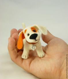 Купить Щенок - белый, пёс, собака, пёсик, маленький пёсик, маленькая собака, щенок