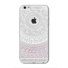 Colorful Floral Paisley Flowers Cases For iphone 6 6S 5 5S SE 5C 6PLUS 6SPlus 4 4S TPU Hollow Mandala Henna Retro Vintage Cases