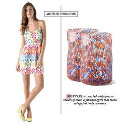 mottled dress // mottled glass