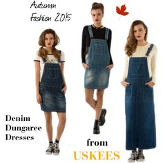 Denim Dungaree Dresses from USKEES - A/W 2015 #LoveUs #Uskees #Overalls