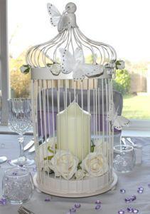 cream bird cage