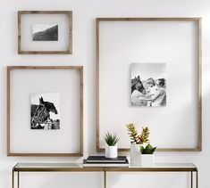 Floating Wood Gallery Frame, Graywash - x - Pillows & Decor - Picture Frames - Pottery Barn Cute Picture Frames, Photo Frame Ideas, Frames Ideas, Wall Ideas, Picture Walls, Art Frames, Black Frames On Wall, Picture Frame Decor, Frame Wall Decor