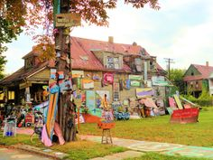 The Heidelberg Project, Detroit.  In better days.  Before some idiot(s) started to burn it one house at a time.