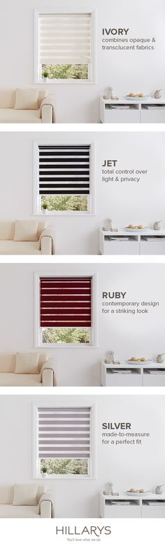 Pick a colour, any colour. Perhaps a Jet Black for your bedroom or Ruby Red for your dining room? Our Roman blinds are suit any room in your house. Take the stress out of home interiors with Hillarys. Decor, Home Buying, Home, Bedroom House Plans, Interior, House, Trending Decor, House Interior, Room
