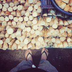 morning suuuuuuuunday :-D)))))) #market #earlymarket #morningmarket #bambooshoot #朝市 #市場 #S_S_magiccarpet #筍