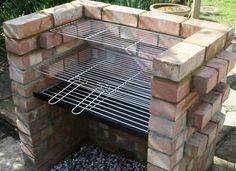 Charcoal DIY Brick BBQ Kit with Stainless Grill & Stainless Warming Grill in Garden & Patio, Barbecuing & Outdoor Heating, Barbecues Outdoor Kitchen Kits, Brick Grill, Diy Grill, Bbq Diy, Camping Grill, Charcoal Bbq, Grill Design, Backyard, Stainless Steel