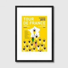 My Tour de France 2 – Modern Art Framed Print