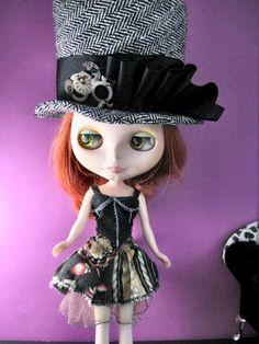 Blythe Steampunk Corset and Skirt. $25.00, via Etsy.