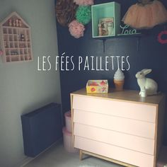 Les Fees Paillettes - commode  vintage retro