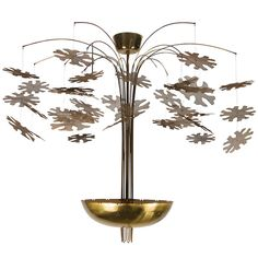 Paavo Tynell Snowflake Chandelier; 1950's