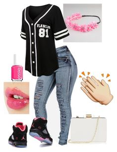 """""""Untitled #109"""" by heyyitsnikki ❤ liked on Polyvore featuring moda, Full Tilt, LE3NO, Charlotte Tilbury, Essie e Oasis"""