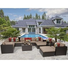 Shop for Belle 13 Piece Outdoor Wicker Patio Furniture Set 13a. Get free delivery at Overstock.com - Your Online Garden & Patio Shop! Get 5% in rewards with Club O! - 21748650