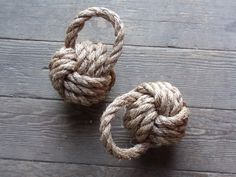 Rope Book End Door Stop Monkey Fist Nautical Nursery or Theme Knotted Natural by AlaskaRugCompany on Etsy https://www.etsy.com/listing/123647458/rope-book-end-door-stop-monkey-fist