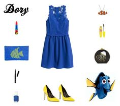 """""""Contest: Dory Outfit"""" by billsacred ❤ liked on Polyvore featuring Yves Saint Laurent, Edie Parker, TLC&you, Animal Planet, Maybelline, Essie, MAC Cosmetics and Bobbi Brown Cosmetics"""