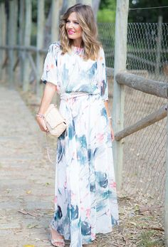 Bring the lure of a beautiful watercolor painting to life in our watercolor dress. Light and flowy this dress is the perfect match to your summer functions. This dress has LONG SLEEVES not the elbow l