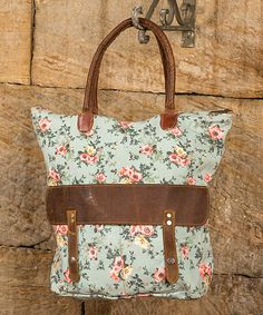 Another great find on #zulily! Eggshell Blue & Floral Tote by Ragon House #zulilyfinds