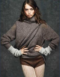 Beautiful knitwear from Glamour Italy September 2014