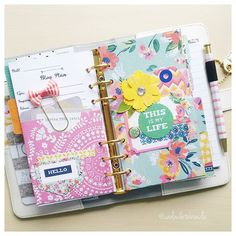 carladetaboada: Floral dividers! Beautiful patterned papers from @kaisercraft in my Color Crush planner from @websterspages