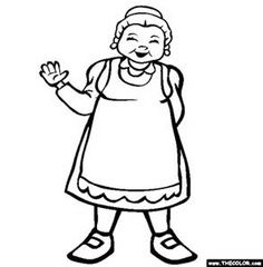 Christmas Mrs Claus coloring page  Bing images  Coloring Pages