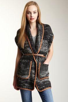 Sleeveless Robe Sweater