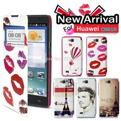 Flip Stand Stylish Design Case Cover For Huawei C8816 G620 with Gift