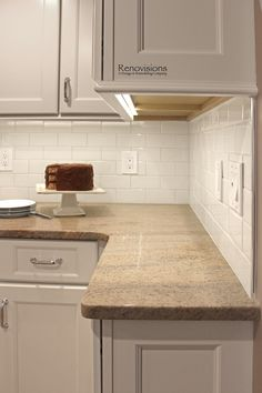 backsplash for kitchens granite new venetian gold white cabinets stainless steel 1421