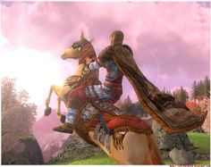 Elven hunter's outfit matching the Steed of the Horse-lords (LOTRO)