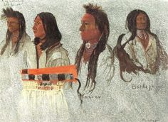 Four Indians by Albert Bierstadt. Oil painting reproduction for sale, Handmade canvas painting. American Women, American Art, Framed Art Prints, Poster Prints, Posters, Chief Seattle, Albert Bierstadt, Native American Quotes, Wall Art For Sale