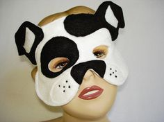 Children's WHITE Dog Felt Mask by magicalattic on Etsy, $12.50