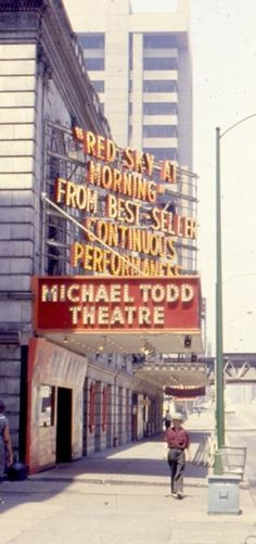 Michael Todd located next door to the Cinestage (the former Selwyn Theatre) on Dearborn Street, the Michael Todd Theatre was the second Todd-AO 70mm roadshow theater, and was originally known as the Harris Theatre