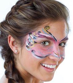 Face painting techniques!  This would be perfect for a fairy or butterfly costume!