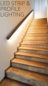 Treppenaufgang Interi Atilde Copy Ry In 2019 Stairway Lighting Stairs Interior Stairs, Home Interior Design, Stairs And Hallway Ideas, Basement Stairs, Basement Ideas, Modern Hallway, Modern Staircase, Stairway Lighting, Lights On Stairs