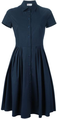 Red Valentino Flared Shirt Dress in Blue