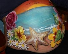 Beautiful: Discover the Belly Painting of future moms . - Belly Painting Ferber s Art - Pregnant Women Bump Painting, Pregnant Belly Painting, Belly Art, Future Maman, Face Painting Designs, Painted Rocks, Pregnant Bellies, Beautiful, Baby Belly