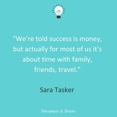 Dreamers & Doers with Sara Tasker quote about business, success and money Content Marketing, Digital Marketing, Feminist Issues, Word Pictures, Influencer Marketing, Training Courses, Getting Things Done, The Dreamers, Insight