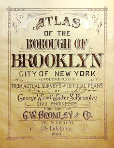Bromley Maps title page