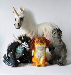 Poseable art dolls by FellKunst on DeviantArt Cute Fantasy Creatures, Weird Creatures, Magical Creatures, Magical Monster, Dragon Figurines, Animal Projects, Creepy Dolls, Felt Animals, Art Dolls