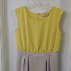 Loft dress Yellow top grey bottom LOFT Dresses