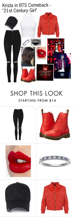 """""""Krista in BTS Comeback - """"21st Century Girl"""""""" by cbwilliams2002 on Polyvore featuring Topshop, Dr. Martens, Charlotte Tilbury, I Promise You and WearAll"""