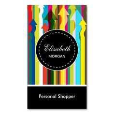 Personal Shopper - Colorful Stripes Pattern Double-Sided Standard Business Cards (Pack Of 100). This great business card design is available for customization. All text style, colors, sizes can be modified to fit your needs. Just click the image to learn more!