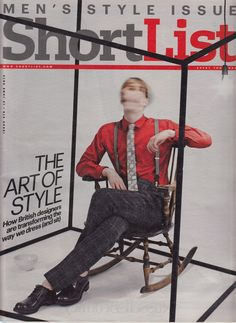 Marwood Crest Lace tie on Shortlist Magazine cover