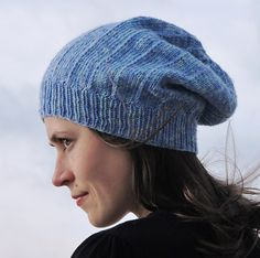 Really gorgeous unisex hat and a freebie too. 2 versions of the same hat, one slightly slouchy and one very slouchy.