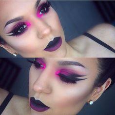 dramatic pink eye makeup